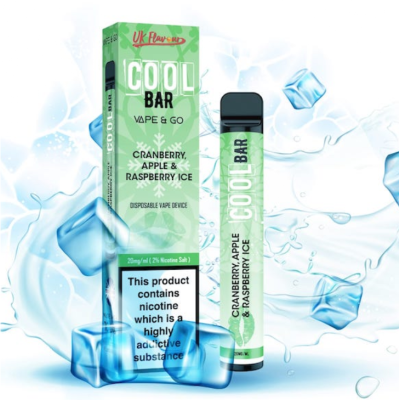 Cranberry Apple And Raspberry Ice Cool Bar Disposable Vape
