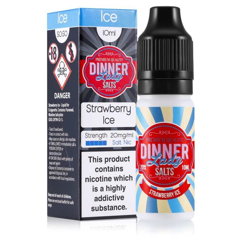 Dinner Lady Strawberry Ice Nic Salt 20mg