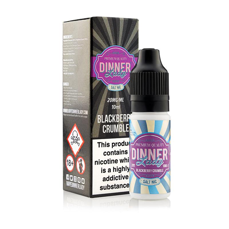 Dinner Lady - Salt Nic - Blackberry Crumble 10ml - 5 Pack [20mg]